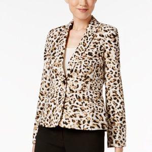 Calvin Klein Womens Tan Blazer New -CL
